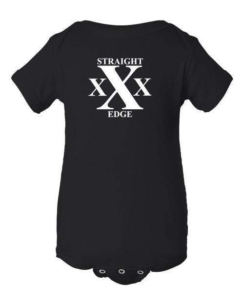 Hardcore Punk Rock Black Straight Edge Baby Pit Bodysuit