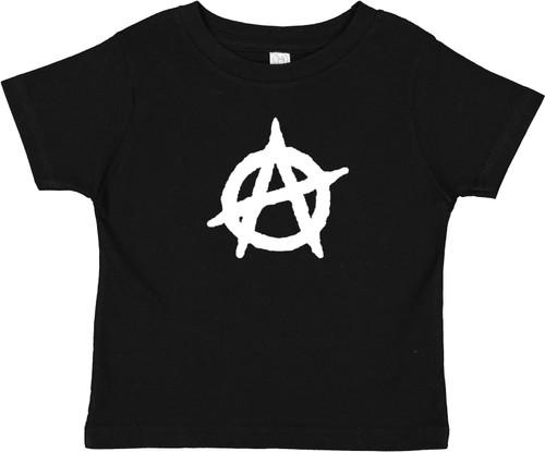 Anarchy Symbol Punk Baby Toddler Cotton T-Shirt Black
