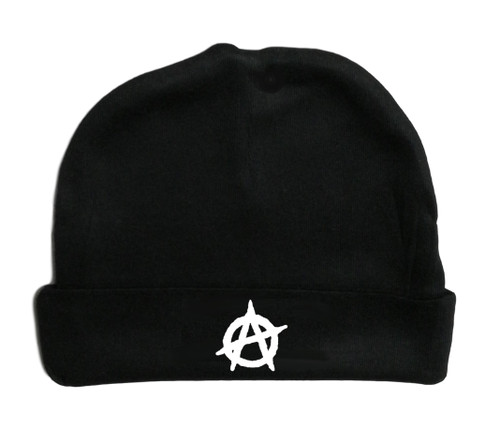 Anarchy Symbol Punk Black Hat Infant Baby Beanie Cap