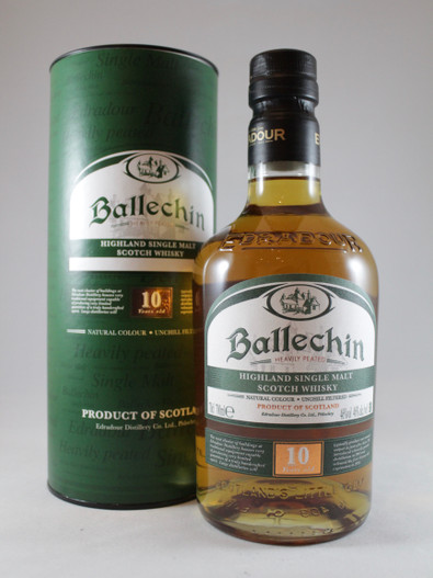 Edradour, Ballechin, Heavily Peated, 10 Year Old, Highland Single Malt Scotch Whisky,  70cl at 46% alc./vol.  www.maltsandspirits.com