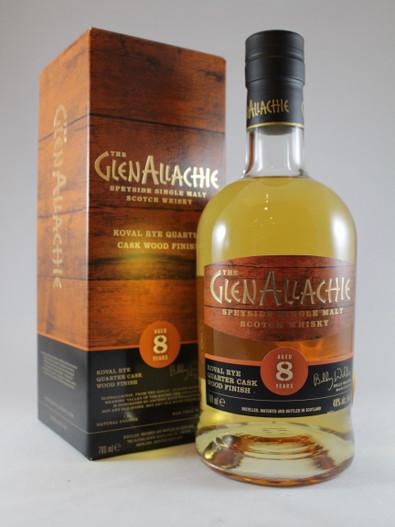 The Glenallachie, Aged 8 Years, Koval Rye Quarter Cask Wood Finish, Speyside Single Malt Scotch Whisky