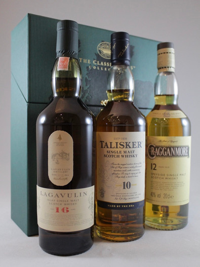 Classic Malts, Strong Collection, Cragganmore 12 Year Old, Talisker 10 Year Old, Lagavulin 16 Year Old