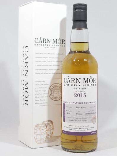 Ben Nevis 2015, 4 Year Old, Sherry Hogshead, Càrn Mòr Strictly Limited Edition of 900 Bottles.70cl at 47.5% Vol. www.maltsandspirits.com/ben-nevis-4