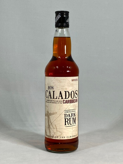 Ron Calados Dark Rum, distilled and blended in the Caribbean
