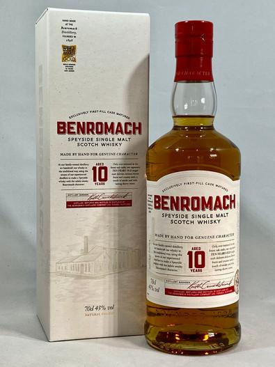 Benromach Aged 10 Years, Speyside Single Malt Scotch Whisky