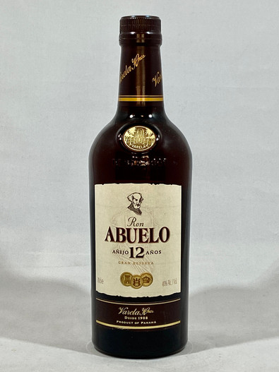 Ron Abuelo 12 Year Old,  Rum from Panama,  70cl at 40% alc/vol. www.maltsandspirits.com/ron-abuelo-12
