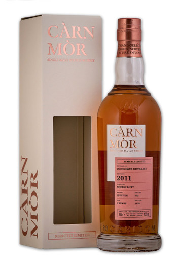 Inchgower 9 Year Old (2011), Sherry Butt. Càrn Mòr Strictly Limited Edition.