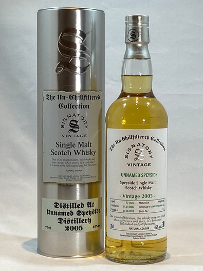 Signatory Vintage Unnamed Speyside 2005, 12 Year Old Single Malt Scotch Whisky