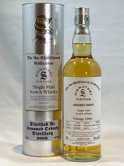 Signatory Vintage Unnamed Orkney 2006, 13 Year Old Single Malt Scotch Whisky