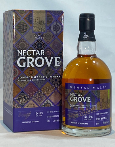 Nectar Grove Batch Strength 001, Madeira Wine Cask Finished, Blended Malt Scotch Whisky