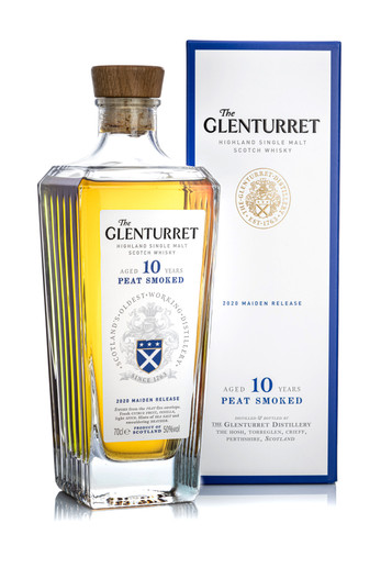 The Glenturret 10 Year Old Peat Smoked, 2020 Maiden Release, Highland Single Malt Scotch Whisky