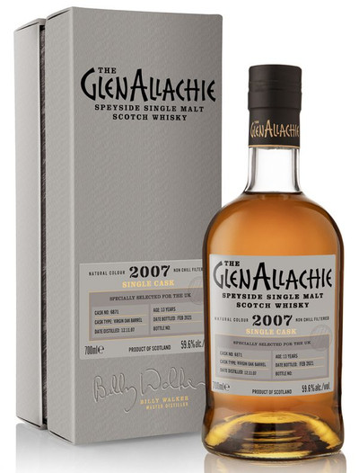 Glenallachie 2007 Cask #6871, 13 Year Old Virgin Oak, Speyside Single Malt Scotch Whisky