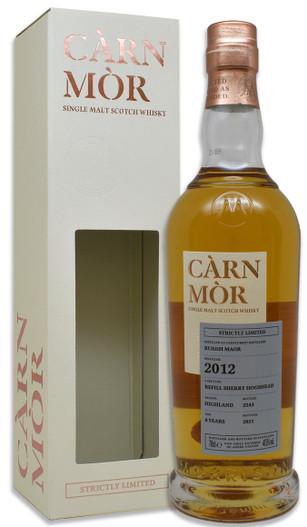 Ruadh Maor (Glenturret) 8 Year Old (2012) Refill Sherry Hogshead , Càrn Mòr Strictly Limited Scotch Whisky.