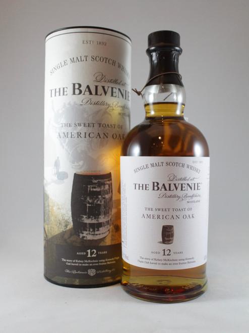 The Balvenie,  The Sweet Toast of American Oak, 12 Year Old, Speyside Single Malt Scotch Whisky, 70cl at 43% alc./vol. www.maltsandspirits.com