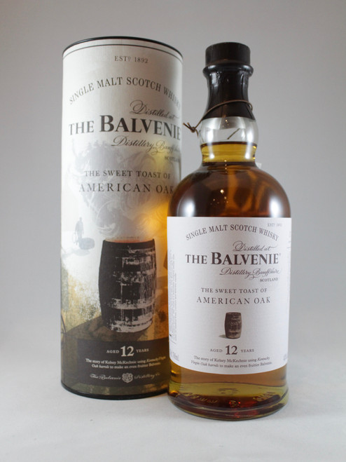 The Balvenie,  The Sweet Toast of American Oak, 12 Year Old, Speyside Single Malt Scotch Whisky