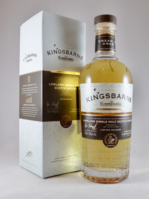Kingsbarns Dream to Dram Limited Release Lowland Single Malt Scotch Whisky,