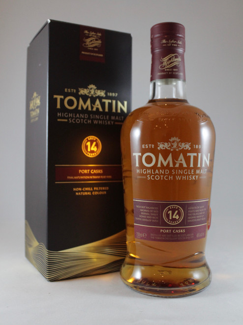 Tomatin, Aged 14 Years, Port Casks, Non-Chill Filtered, Highland Single Malt Scotch Whisky,