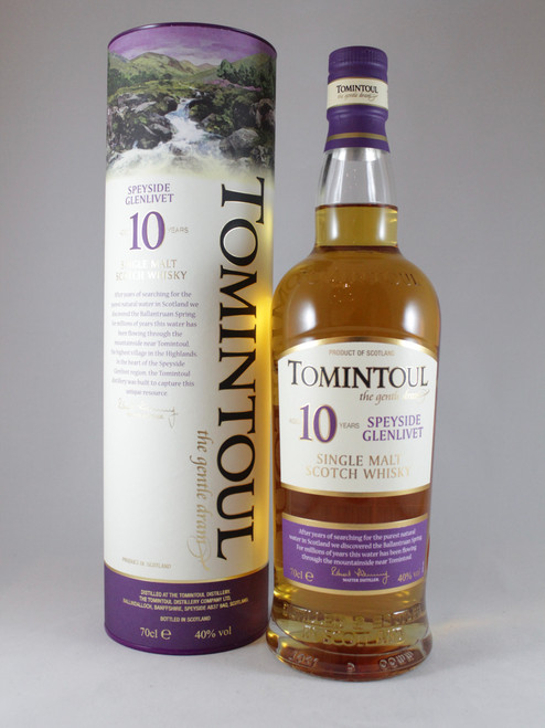 Tomintoul, 10 Year Old, Speyside Single Malt Scotch Whisky, 70cl at 40% alc. /vol. www.maltsandspirits.com/tomintoul-10