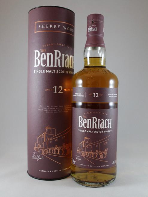 Benriach, 12 Year Old, Sherry Wood, Speyside Single Malt Scotch Whisky, 70cl at 46% alc. /vol.   www.maltsandspirits.com/benriach-12-sherry-wood