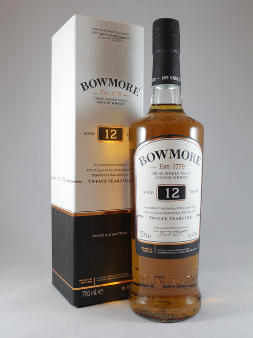 Bowmore, Aged 12 Years, Islay Single Malt Scotch Whisky