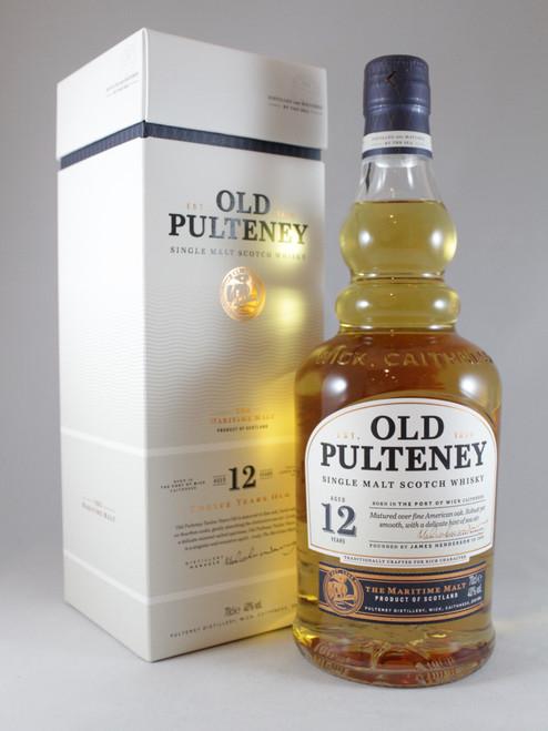 Old Pulteney, Aged 12 Years, Highland Single Malt Scotch Whisky,  70cl at 40% alc./vol.  www.maltsandspirits.com/