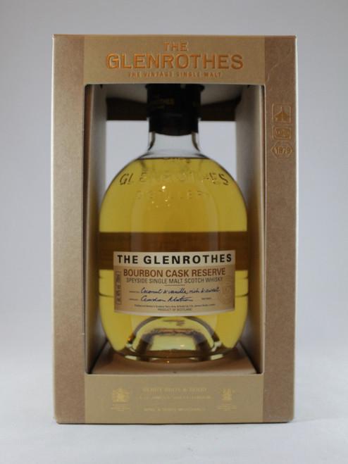The Glenrothes, Bourbon Cask Reserve,  Speyside Single Malt Scotch Whisky,  700ml at 40% alc./vol. www.maltsandspirits.com/