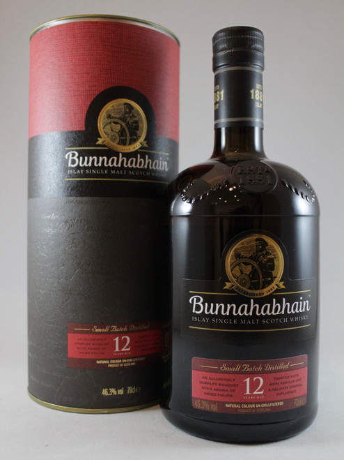 Bunnahabhain 12 year old Islay Single Malt Scotch Whisky,