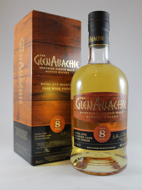 The Glenallachie, Aged 8 Years, Koval Rye Quarter Cask Wood Finish, Speyside Single Malt Scotch Whisky