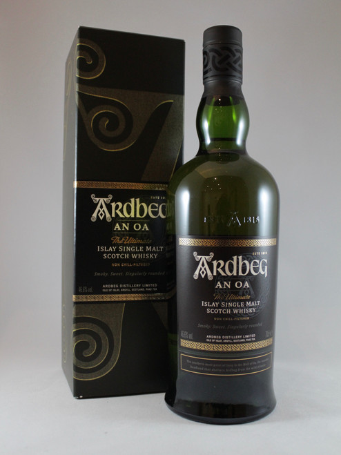 Ardbeg AN OA, Islay Single Malt Scotch Whisky, 70cl at 46.6% alc./vol.  www.maltsandspirits.com/