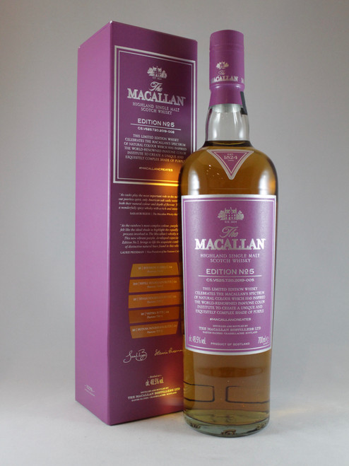 The Macallan, Edition No.5, Highland Single Malt Scotch Whisky, 700ml at 48.5% Vol. www.maltsandspirits.com/