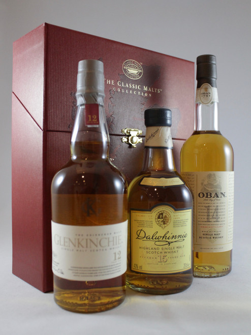 Classic Malts Gentle Collection, Dalwhinnie 15 Yrs old , Glenkinchie 12 Yrs old and Oban 14 Yrs old,