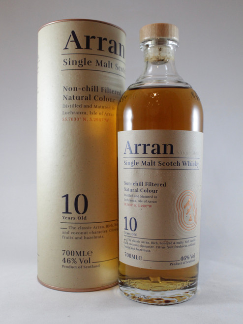 Arran, 10 Year Old, Single Malt Scotch Whisky, 700ml at 46% alc./vol. www.maltsandspirits.com/arran-10-year-old