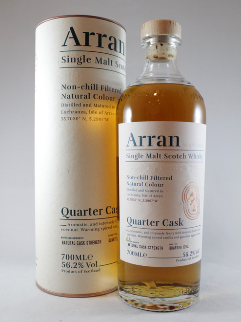 "Arran ""The Bothy"" Quarter Cask , Single Malt Scotch Whisky 700ml at 56.2% alc./vol.  www.maltsandspirits.com/"