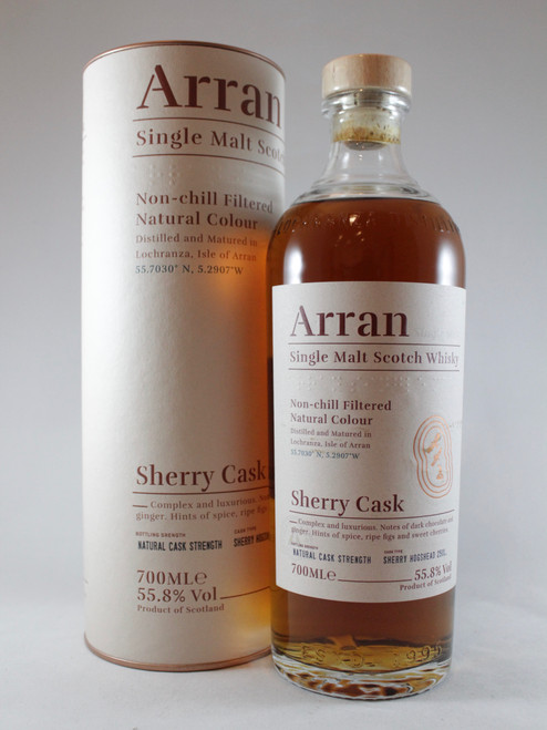 "Arran ""The Bodega"" Sherry Cask , Single Malt Scotch Whisky 700ml at 55.8% alc./vol.   www.maltsandspirits.com/"