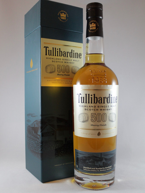 Tullibardine, 500 Sherry Finish, Highland Single Malt Scotch Whisky