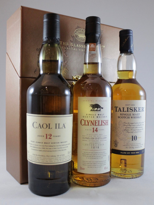 Classic Malts Coastal Collection, Caol Ila 12 Yrs old , Clynelish 14 Yrs old and Talisker 10 Yrs old,