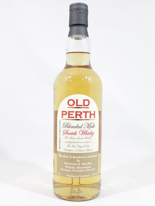 Old Perth, No. 7 Release, Blended Malt Scotch Whisky, 70cl at 43% Vol. www.maltsandspirits.com/old-perth-no-7