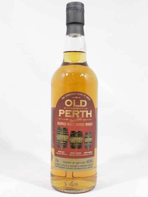 Old Perth, Sherry Cask, Blended Malt Scotch Whisky, 70cl at 43% Vol. www.maltsandspirits.com/old-perth-sherry