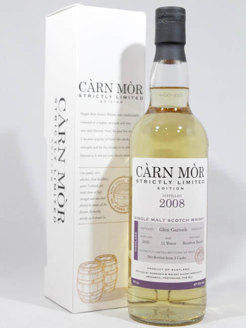 Glen Garioch 2008, 11 Year Old, Bourbon Barrel, Càrn Mòr Strictly Limited