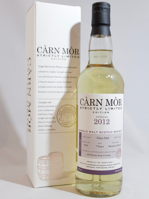 Glen Ord, 7 Year Old,(2012), Bourbon Barrel, Càrn Mòr Strictly Limited