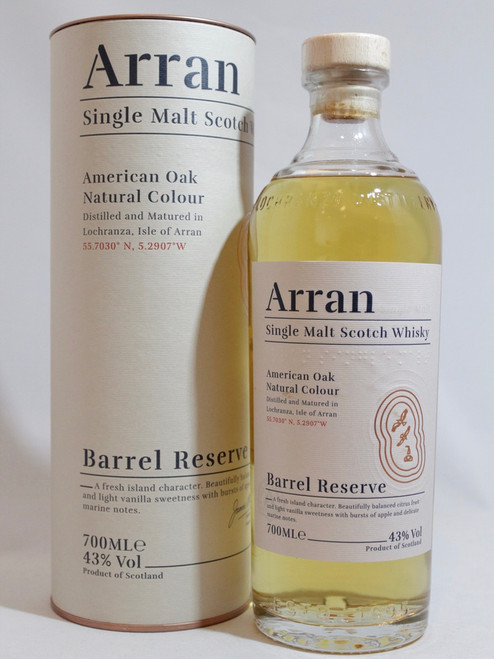 Arran Barrel Reserve, Single Malt Scotch Whisky, 700ml at 43% alc./vol. www.maltsandspirits.com/arran-reserve