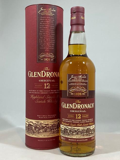 The GlenDronach Original 12 Year Old, Highland Single Malt Scotch Whisky, 70cl at 43% Vol. www.maltsandspirits.com/glendronach-12