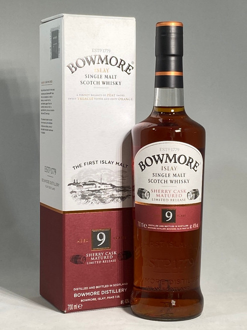 Bowmore, Aged 9 Years, Sherry Cask Matured, Limited Release, Islay Single Malt Scotch Whisky