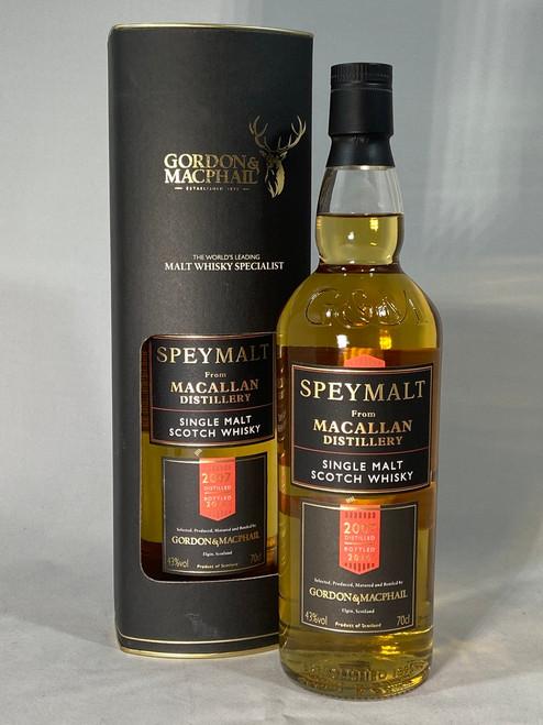 The Macallan Speymalt 2007,  Highland Single Malt Scotch Whisky, 700ml at 43% Vol. www.maltsandspirits.com/the-macallan-speymalt-2007