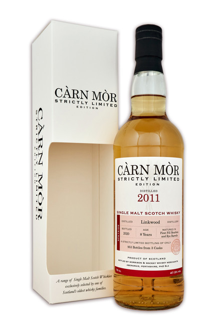 Linkwood 8 Year Old, (2011), First Fill Bourbon & Rye Barrels from the Càrn Mòr Strictly Limited Edition Range