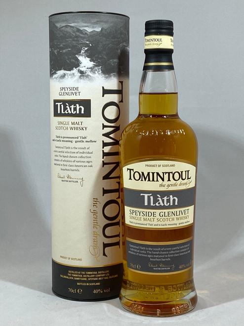Tomintoul Tlàth, Single Malt Scotch Whisky, 70cl at 40% alc. /vol.  www.maltsandspirits.com/tomintoul-tlath
