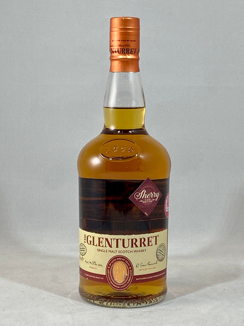 The Glenturret, Sherry Cask Edition, Highland Single Malt Scotch Whisky, 700ml at 43% alc./vol.  www.maltsandspirits.com/the-glenturret-sherry