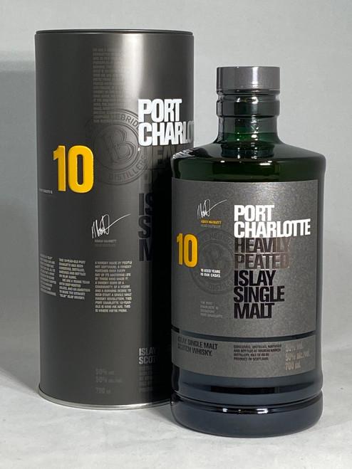 Port Charlotte, 10 Year Old, Islay Single Malt Scotch Whisky, 700ml at 50% alc./vol.  www.maltsandspirits.com/port-charlotte-10