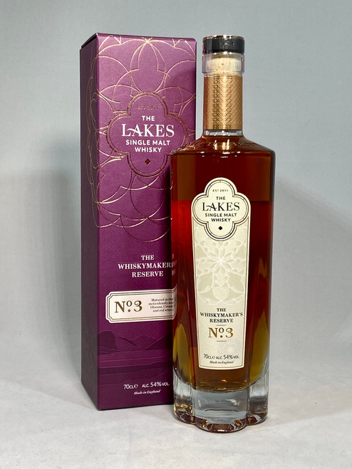 The Lakes Distillery, Whiskymaker's Reserve No.3, Single Malt Whisky, 70cl at 54% alc./vol.  www.maltsandspirits.com/whiskymakers-3