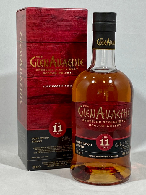The Glenallachie, Aged 11 Years, Port Wood Finish, Speyside Single Malt Scotch Whisky  700ml at 48% alc./vol.  www.maltsandspirits.com/the-glenallachie-11-port-wood-finish